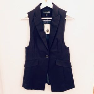 NEW Forever21 Career Vest, Navy Blue